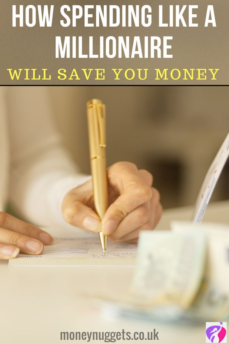 How spending like a millionaire will save you money