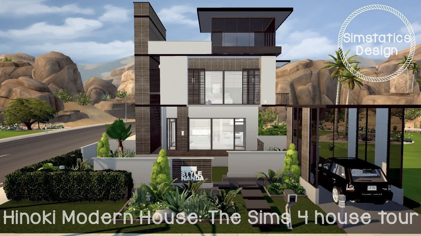 The Sims 4 house tour : Hinoki modern house | * Secret garden ...