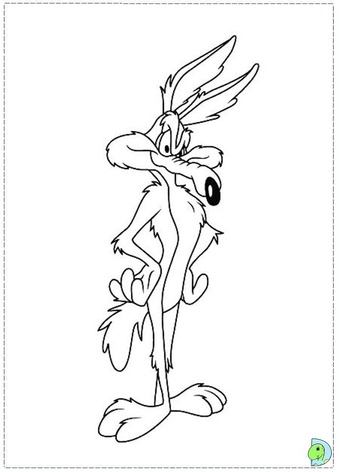 Wile E Coyote Coloring Page Cartoon Tattoos Cartoon Coloring Pages Coyote Drawing
