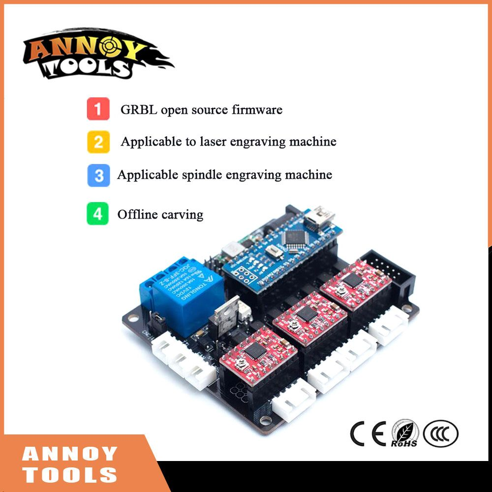 buy grbl open source firmware 3axis cnc controller board laser ...