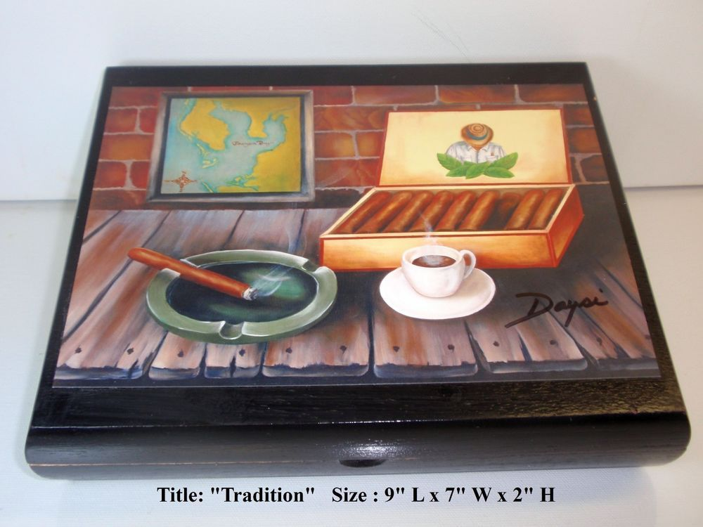 Limited Edition Dozen Pictures to Choose Exclusive Cigar Boxes w// Artworks