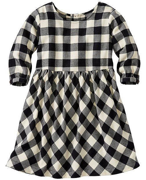 db1d76040 Girls Buffalo Check Dress In Supersoft Flannel (Hanna Andersson ...