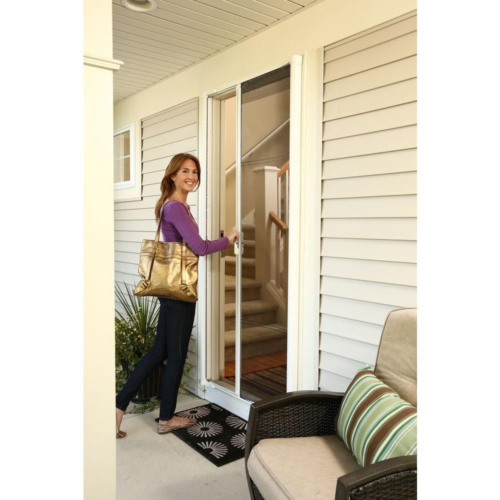 Retractable Screen Door This Would Give Me The Ability To Keep My French Doors Open And Keep The Bugs O Retractable Screen Door Retractable Screen Screen Door