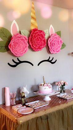 Unicorn Party Rose Gold Pink Unicorn Birthday In 2018 Pinterest