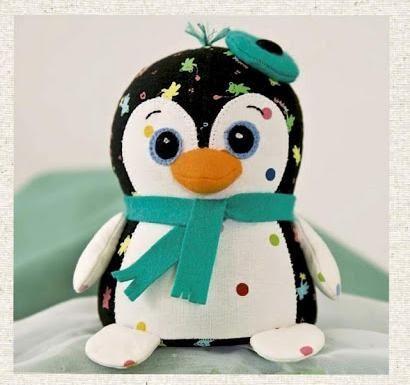 Penguin plush pattern | Nähen Kuscheltiere | Pinterest | Pinguine ...
