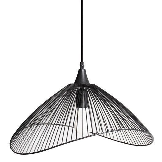 suspension design kasteli metal noir 1 x 40 w seynave