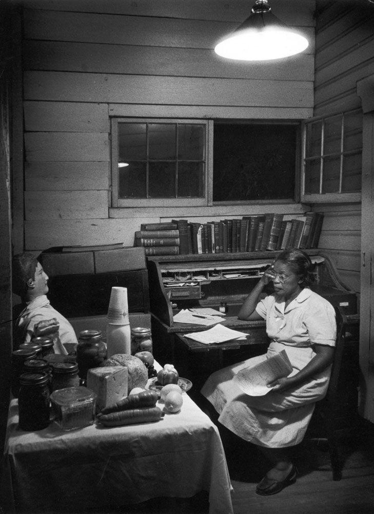 "Maude Callen on duty. In December 1951, LIFE published one of the most extraordinary photo essays ever to appear in the magazine. In W. Eugene Smith's pictures, the story of a tireless South Carolina nurse and midwife named Maude Callen working in the rural South in the 1950s. She served as ""doctor, dietician, psychologist, bail-goer and friend"" to thousands of poor (most of them desperately poor) patients."