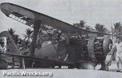 Pacific Wrecks - F1M2 Pete RI-6 abandoned at Deboyne Lagoon