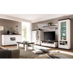 Photo of Wohnzimmer Wohnwand Set inkl. Sideboard & Couchtisch in Pine weiß & Wenge Nb. LomadoLomado