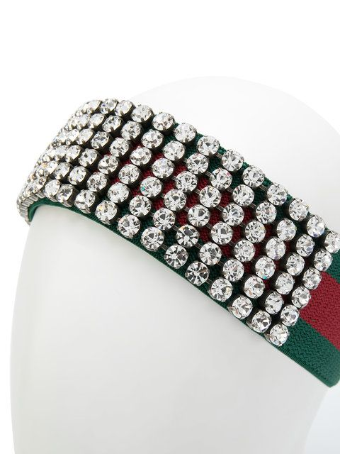 1373ef974d6 Gucci Web Headband With Crystals in 2019