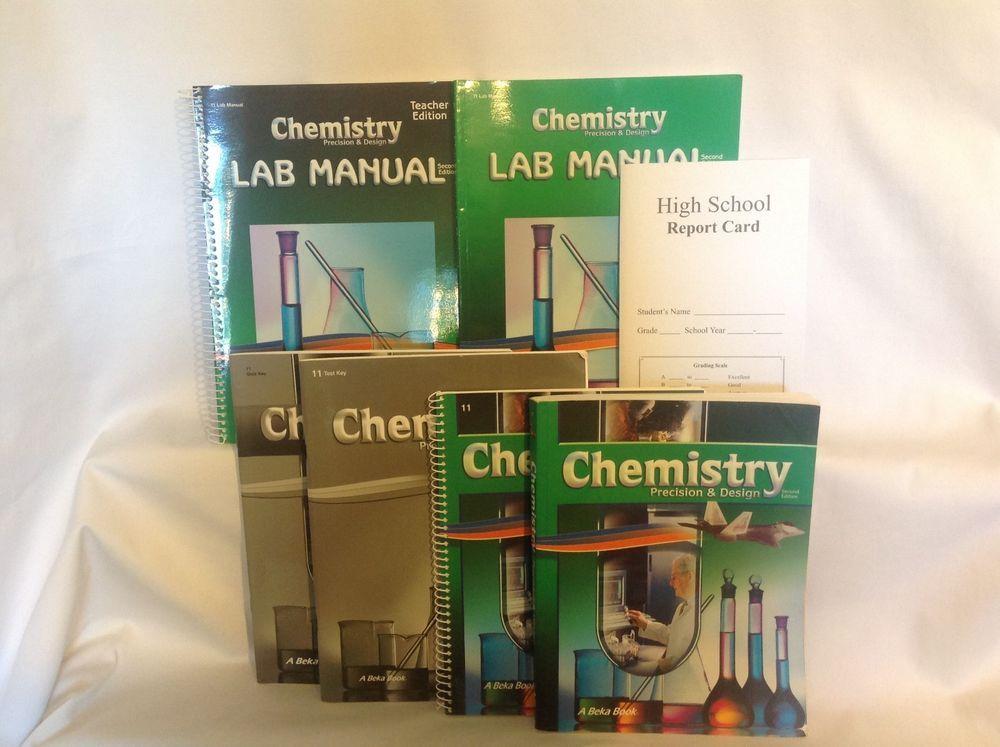 ABeka Chemistry Student / Teacher, Labs, Keys, 2nd Ed, Science, 11th