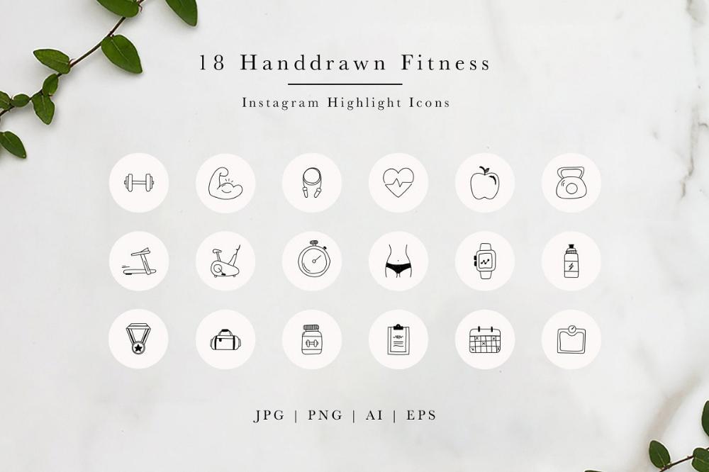 Fitness Instagram Highlight Icons Instagram Templates Creative Market Instagram Highlight Icons Fitness Instagram Highlight Fitness Instagram