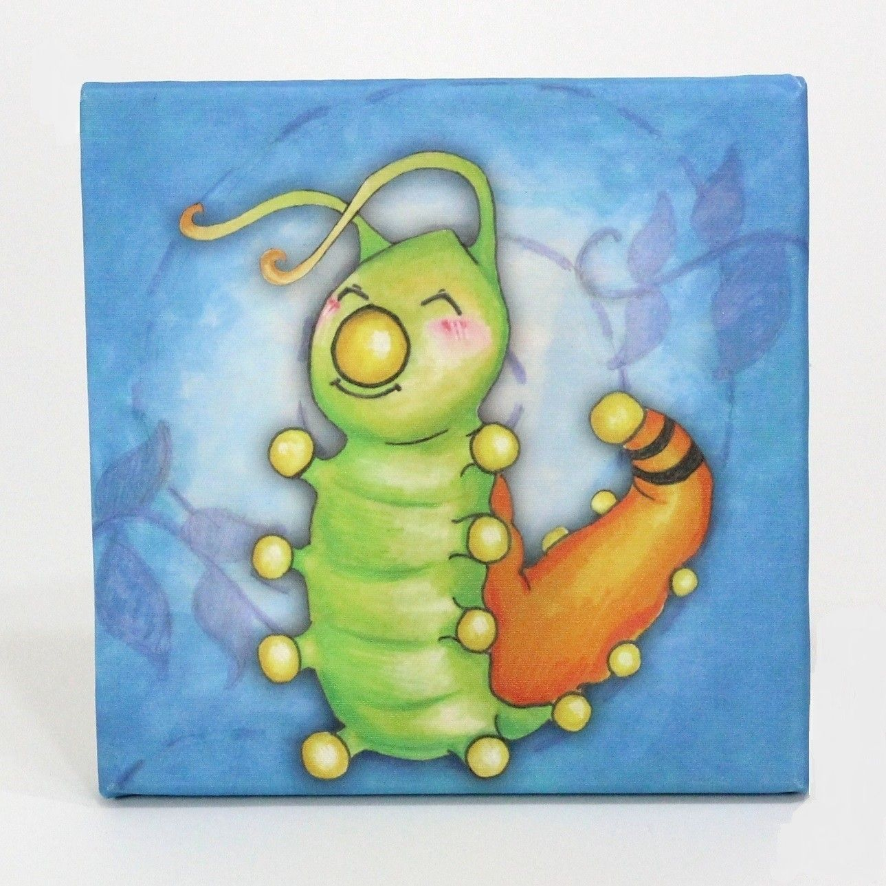 growing kids caterpillar to butterfly graphic art on canvas kids