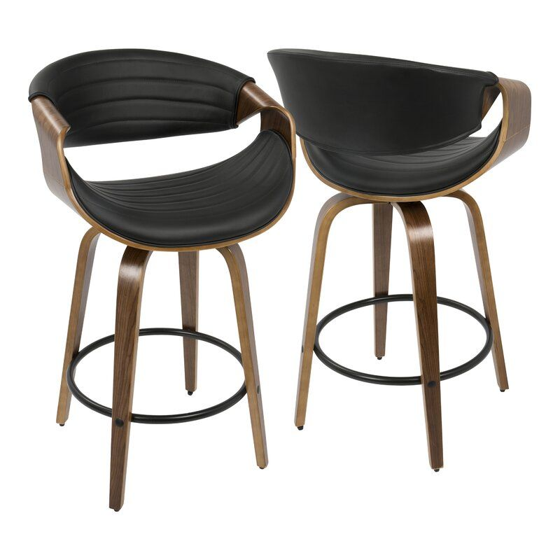Zigler 26 Swivel Bar Stool Leather Counter Stools Modern