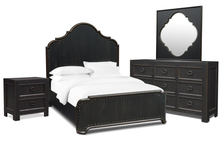Lennon 6-Piece Queen Bedroom Set with Nightstand Dresser and ...