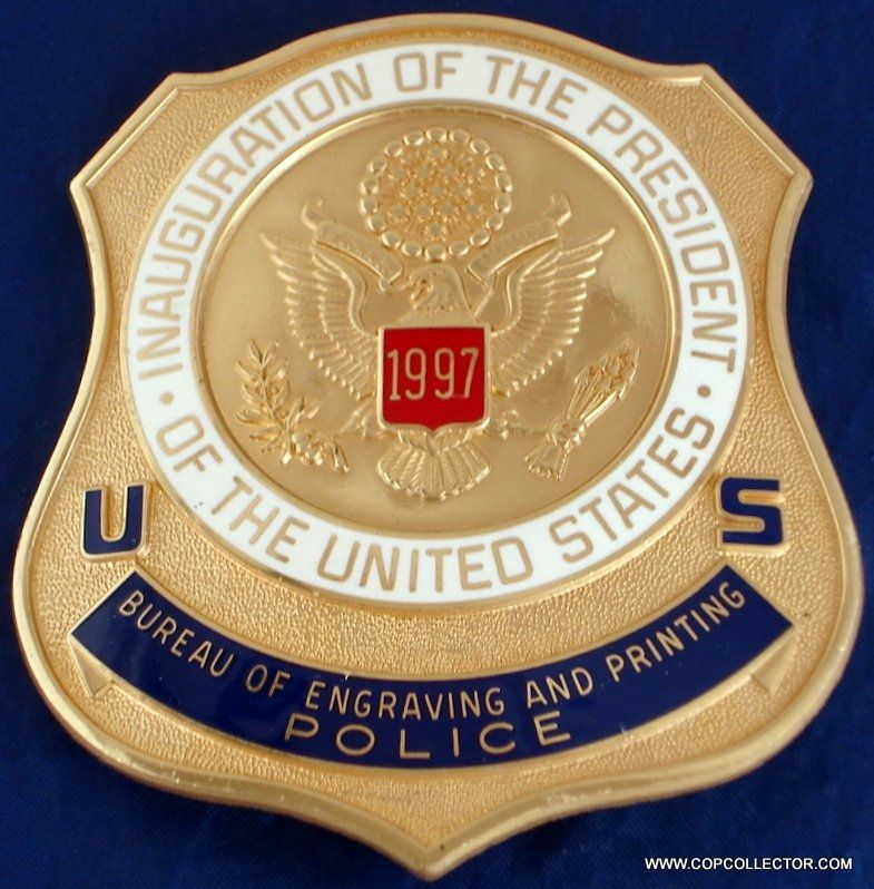 US BUREAU OF ENGRAVING AND PRINTING 1997 PRESIDENTIAL INAUGURATION BADGE