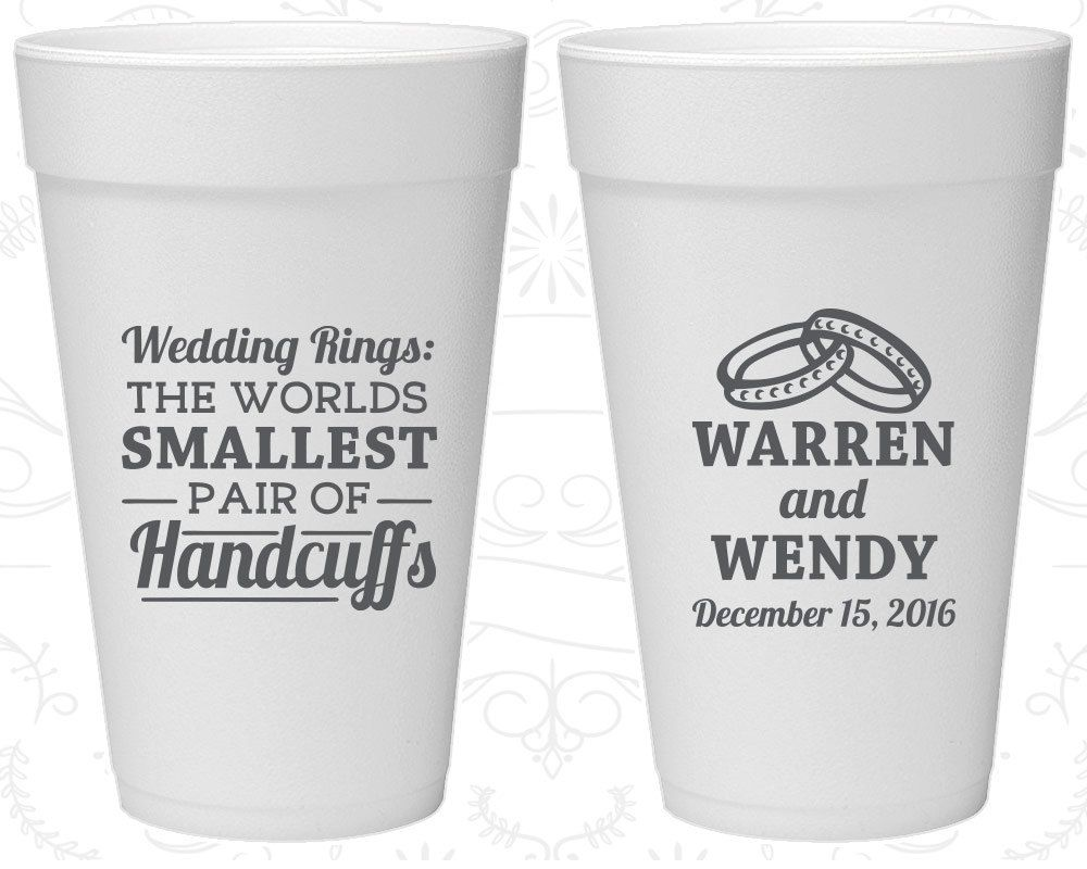 Wedding Rings, The Worlds Smallest Pair of Handcuffs, Imprinted ...