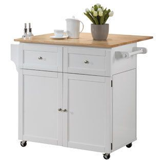 White Kitchen Storage Cart And Leaf  For The Home  Pinterest Stunning Kitchen Cart With Drop Leaf Review