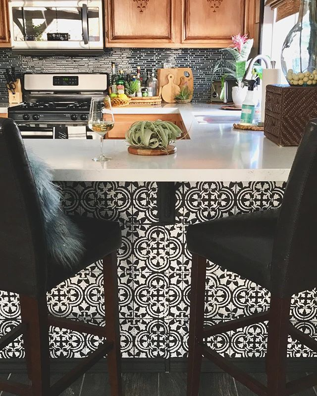 Pin On Stenciled & Painted Kitchens
