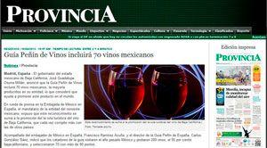 La prensa mexicana se hace eco del lanzamiento de la Guía Peñín Iberoamericana