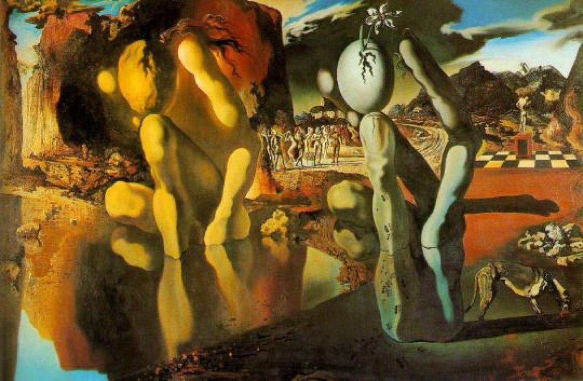 Metamorphosis of Narcissus ~ Salvador Dali