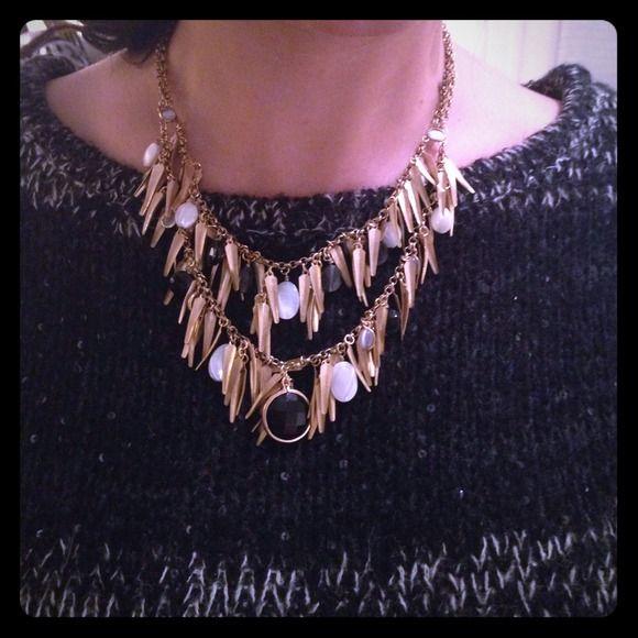Loft Gold Necklace NWOT, Gold , Double Chain LOFT Jewelry Necklaces