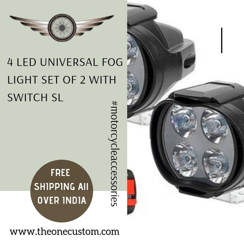 Buy 4 Led Fog Light For All Bikes Set Of 2 Online At A