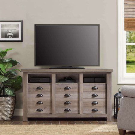 Better Homes And Gardens Granary Modern Farmhouse Printers TV Cabinet Multiple Finishes Image 2 Of