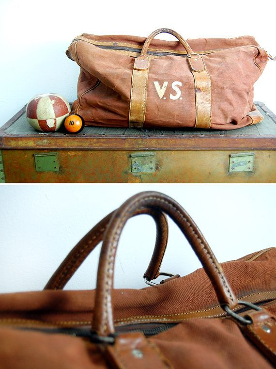 Great Vintage 1930s Duffel Bag. I found my 1950 s MacGregor all-leather bag  a year or so ago. Still love to score a great old weekender bag. aa8ca2a11f