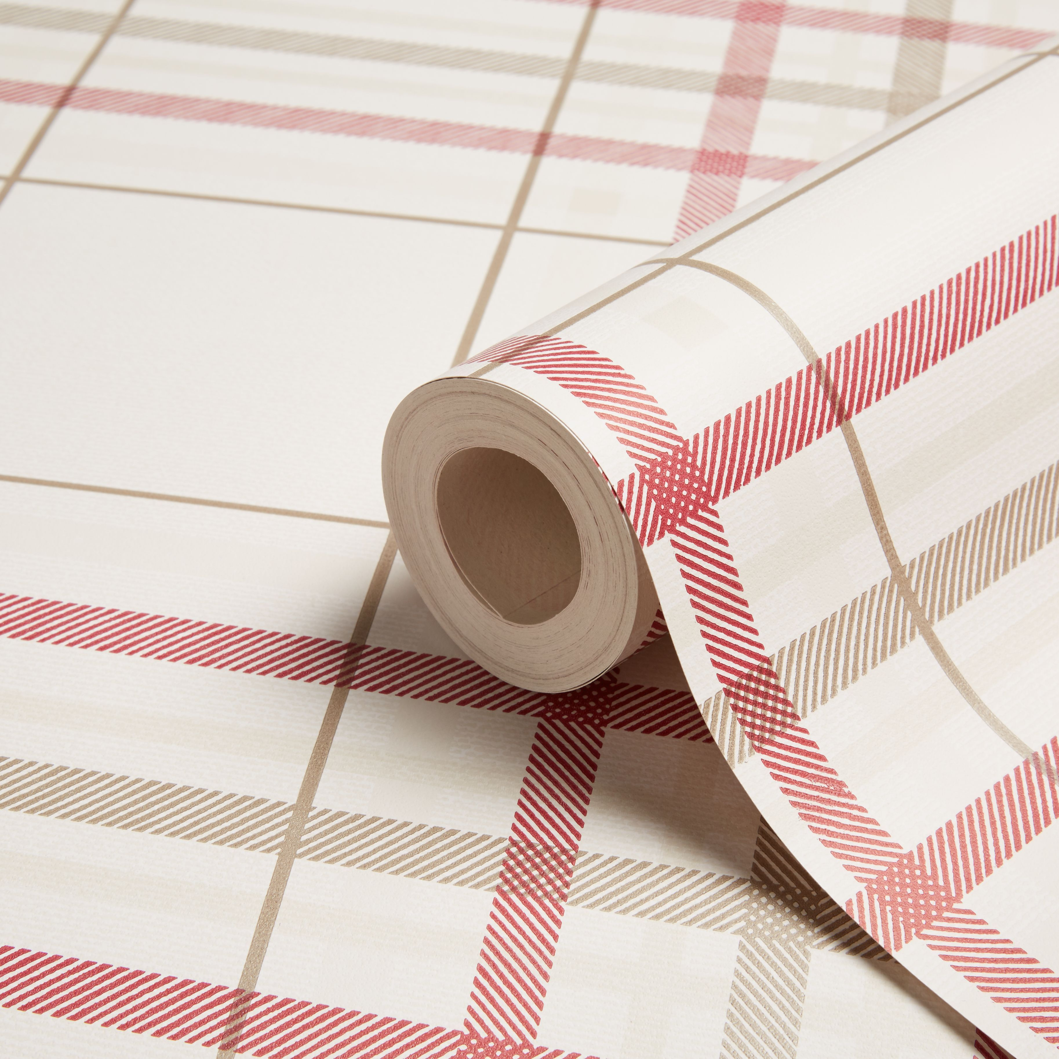 Diy supplies accessories diy at b q - Cream Red Plaid Wallpaper B Q For All Your Home And Garden Supplies And Advice On All The Latest Diy Trends