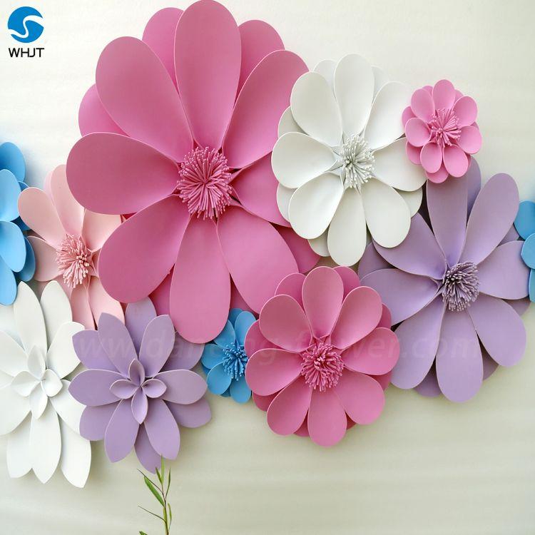Beautiful deep colour big artificial wall flower foam paper flower beautiful deep colour big artificial wall flower foam paper flower for decoration mightylinksfo