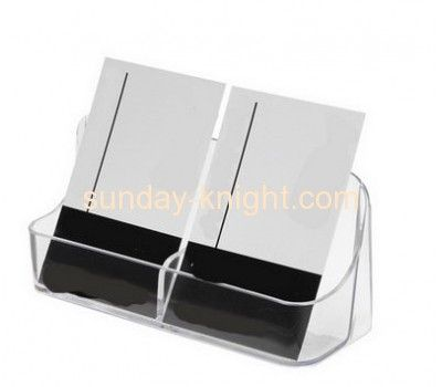 2016 New Design Acrylic Business Card Holder Or Name Card Holder Box With Divider Bhk 026 Brochure Holders Name Card Holder Cheap Business Cards