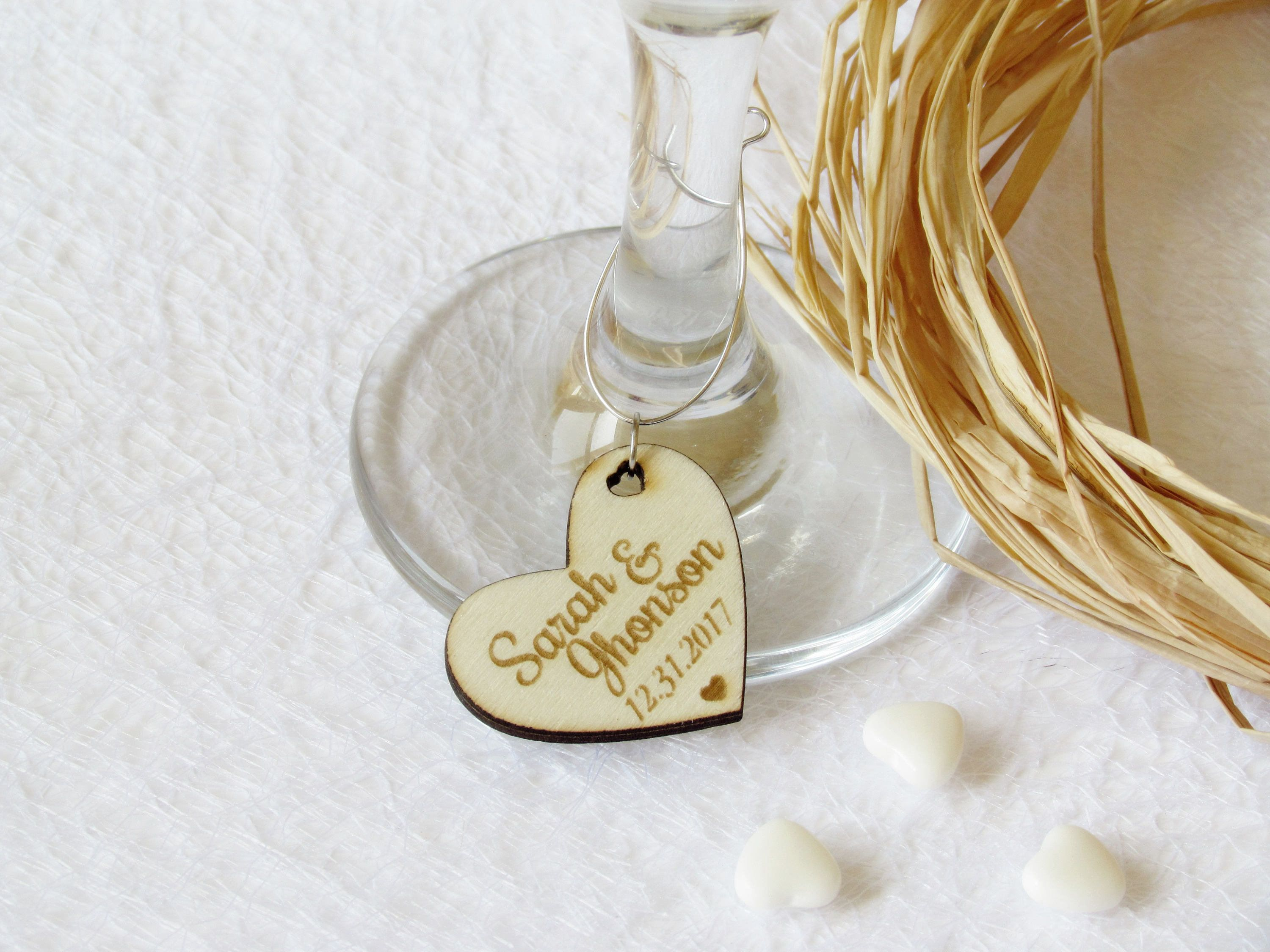 Wedding wine charms-Wine charms-Wine glass charms-Wedding charms ...