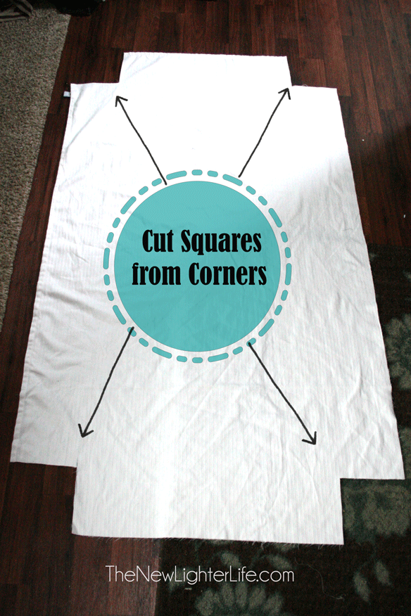 How To Make Fitted Sheets From A Flat The New Lighter Life Sewing Crafts Sewing For Beginners Sewing Projects