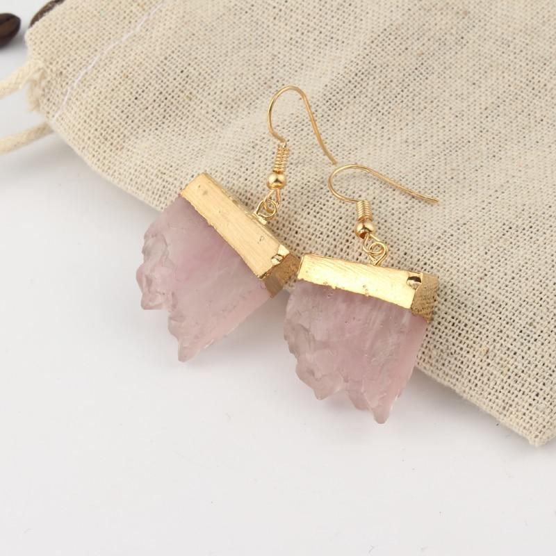 Crystal and Gold Handmade Drop Earrings – 5 Colors