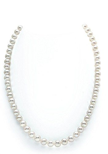 The Pearl Source 14K Gold 8-9mm White Freshwater Cultured Pearl Bracelet - AAAA Quality OS1LF