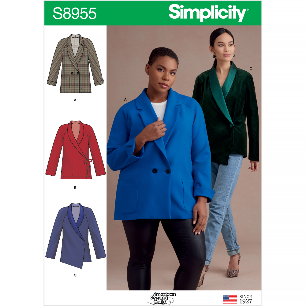 Simplicity Sewing Pattern S8955 Misses And Women S Raglan Sleeve