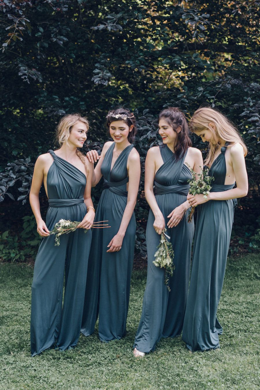 8513c6f3f4fa Convertible Jumpsuits in Pewter (Dark Grey). Perfect for the cool Bridesmaid !