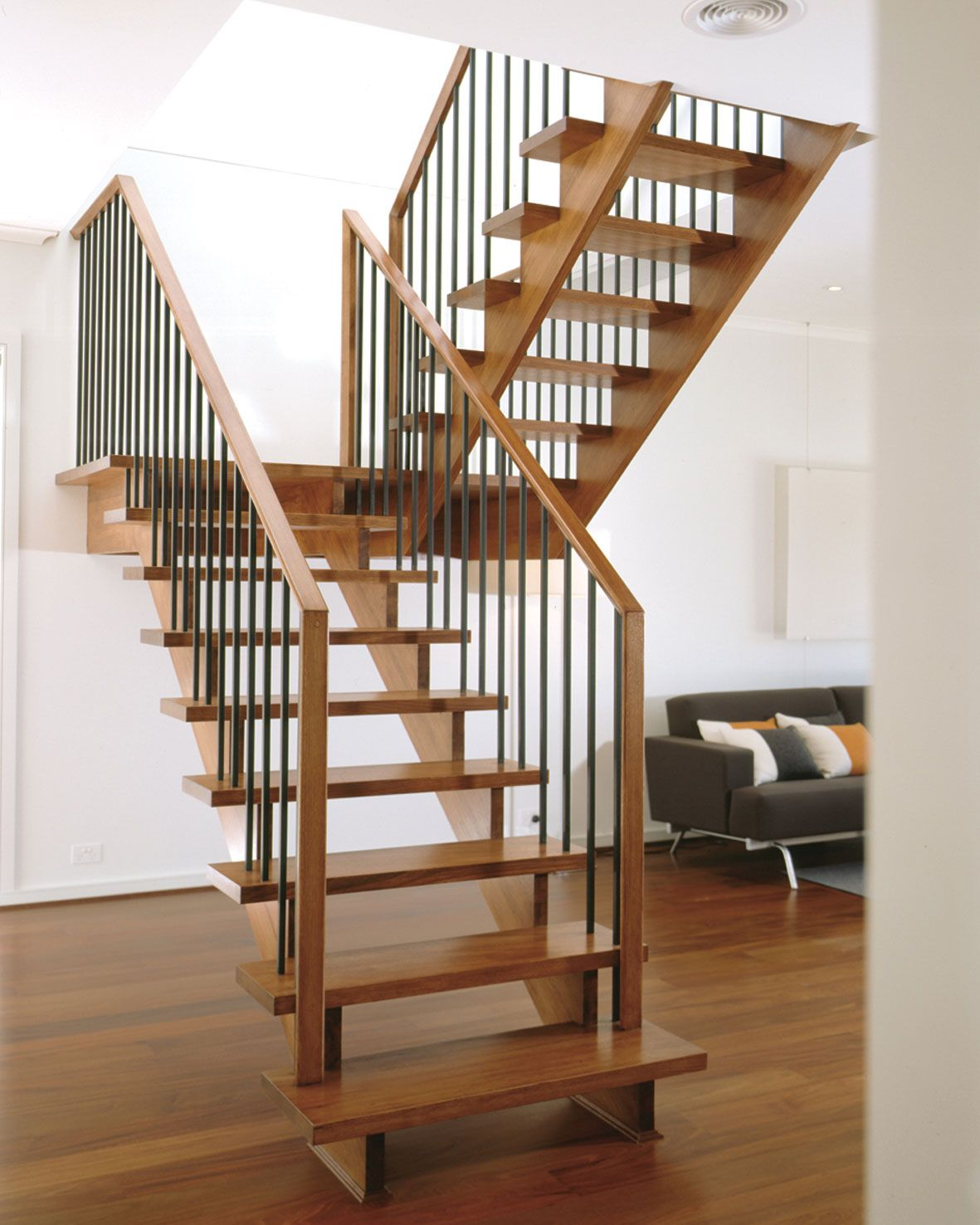 Stunning staircase designs in home interior with wooden for Interior staircase designs