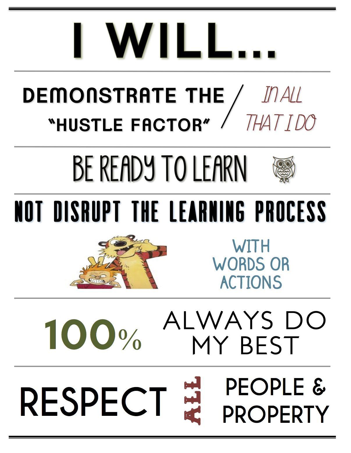 Modern Classroom Rules ~ New class rules poster language arts pinterest