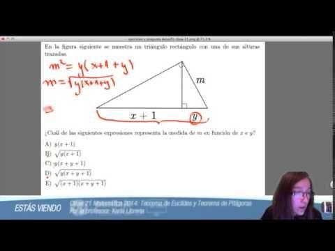Clase 21 Matematica 2014 Teorema De Euclides Y Teorema De