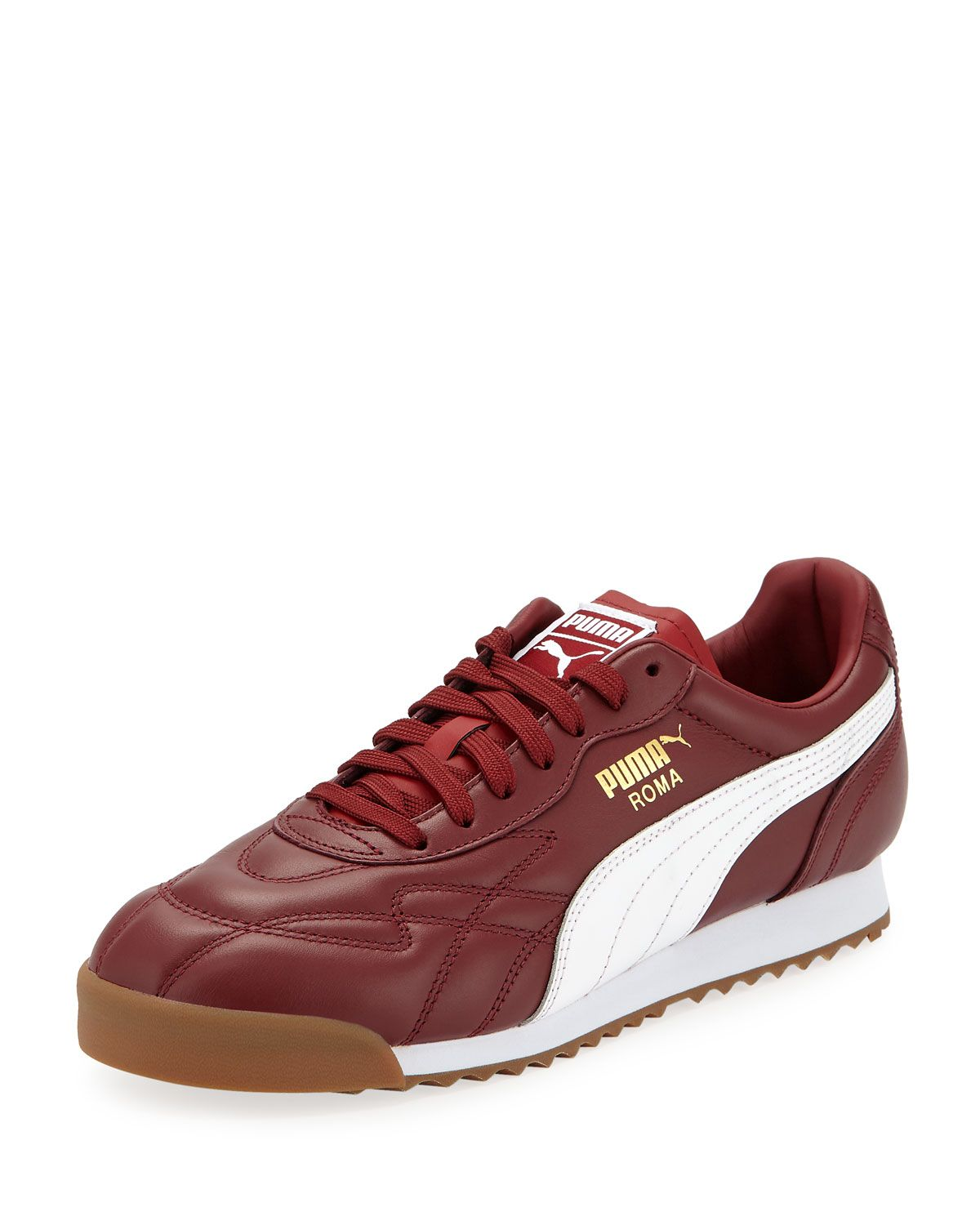 PUMA MEN'S ROMA ANNIVERSARY LEATHER SNEAKERS. #puma #shoes