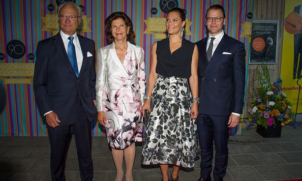 August 21: King Carl Gustaf, Queen Silvia, Crown Princess Victoria and Prince Daniel of Sweden attended Radio Sweden's 90th Anniversary Celebrations at Berwaldhallen.  Photo: Getty Images
