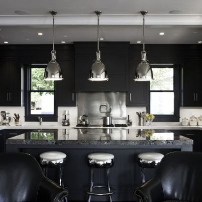A black & white-schemed journey through this Rocky Ledge home. Designed by LDa Architecture & Interiors