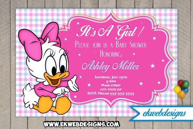 disney baby daisy baby shower invitations  minnie mouse baby, Baby shower invitation