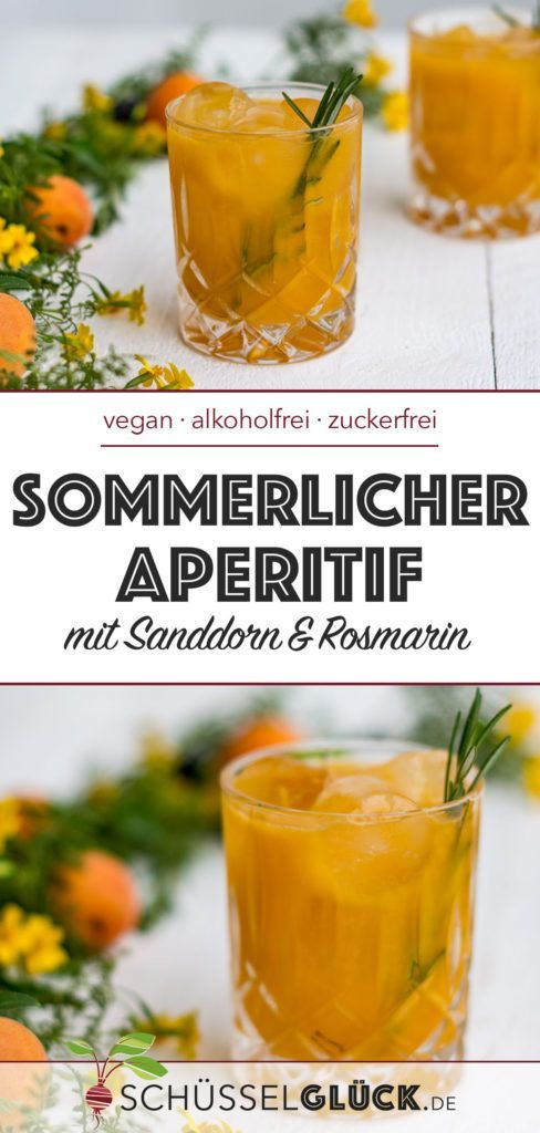Photo of Non-alcoholic summer aperitif with sea buckthorn & rosemary