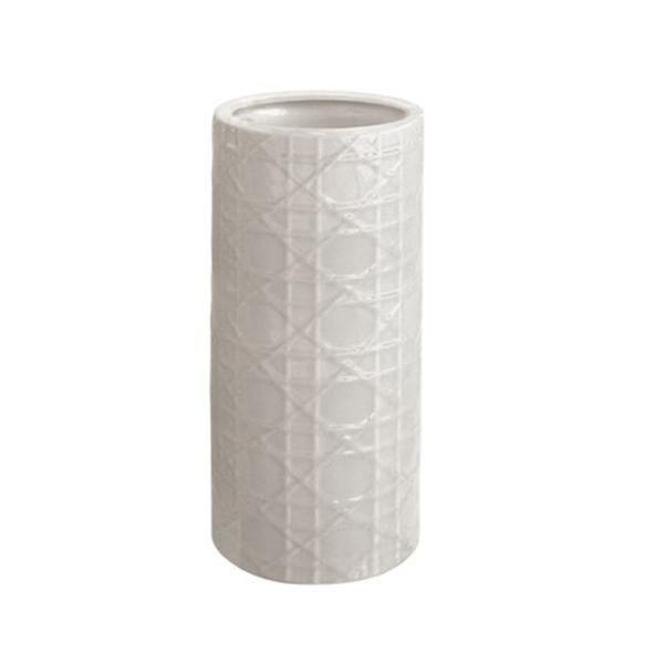 Super White Cane Ceramic Umbrella Stand Vase Burke Decor Frankydiablos Diy Chair Ideas Frankydiabloscom