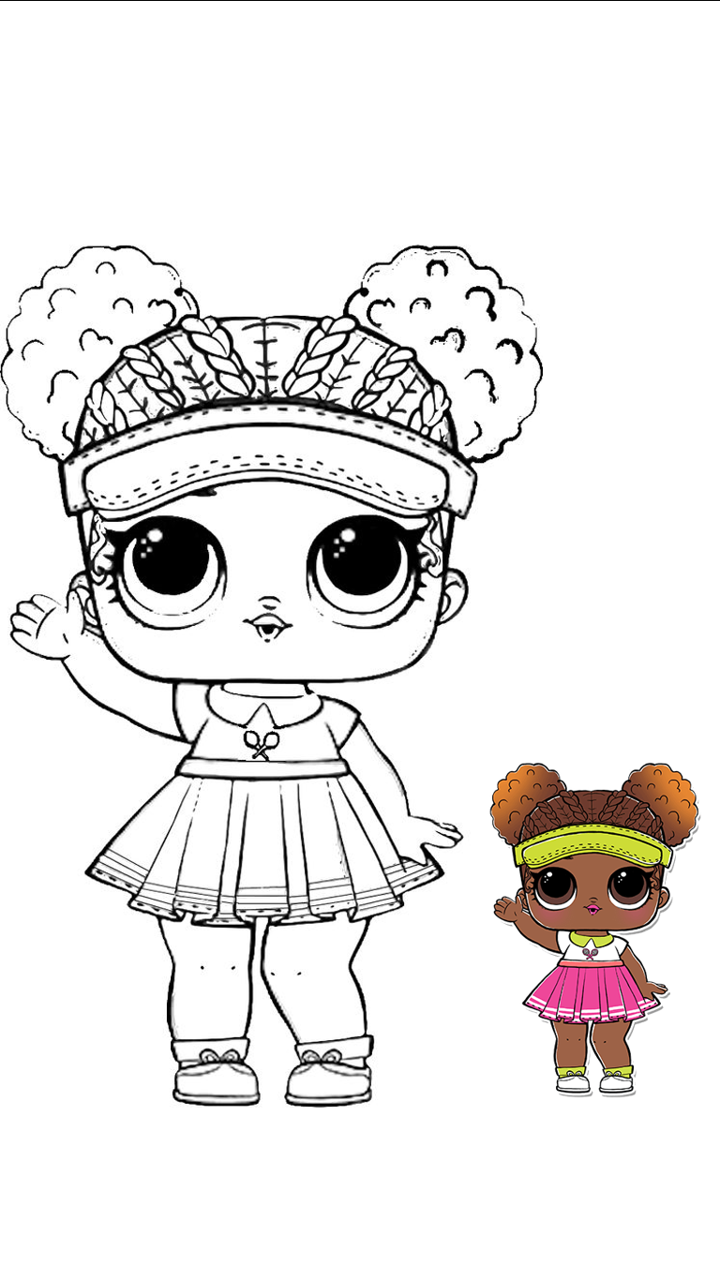 Lol Tenista Para Colorear Lol Dolls Coloring Pages Drawings