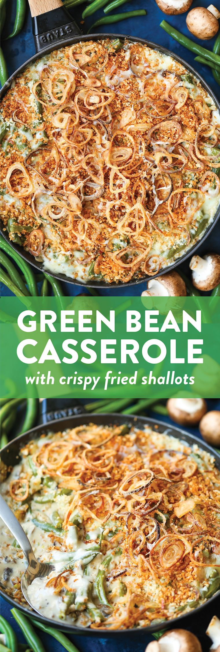 Green Bean Casserole with Crispy Fried Shallots images