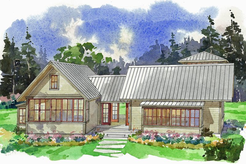 Modern Style House Plan 4 Beds 2 Baths 1944 Sq Ft Plan 23 2308 Cottage Style House Plans Dog Trot House Plans Modern Style House Plans